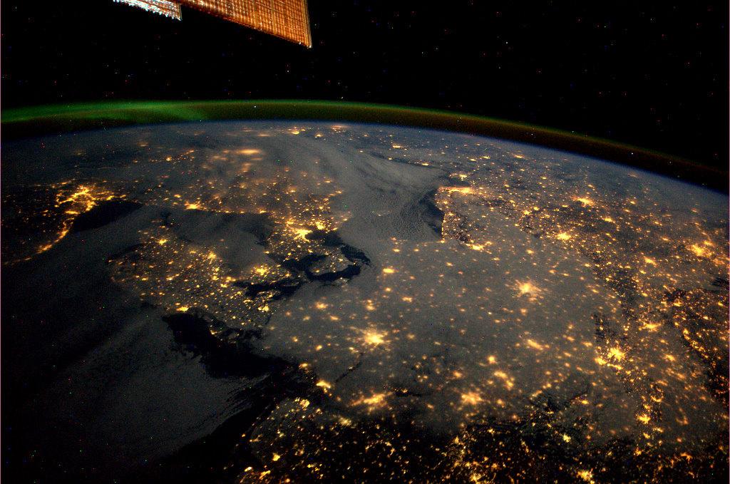 (c) ESA/NASA: Kopenhagen, Osla, Stockholm, Norddeutschland von der ISS